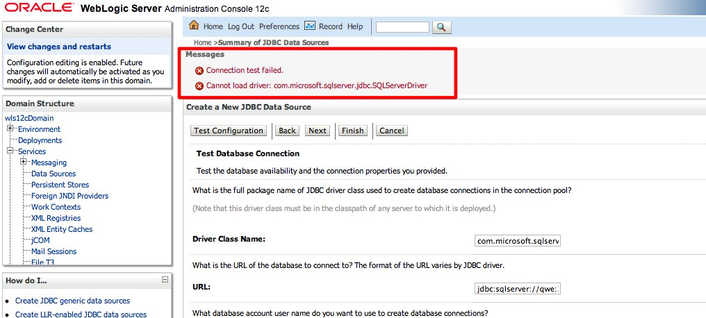 How to add third-party JDBC drivers on WebLogic – William
