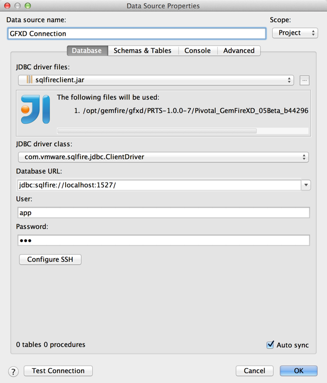 Setting up JDBC tools for GemFire XD – William Markito